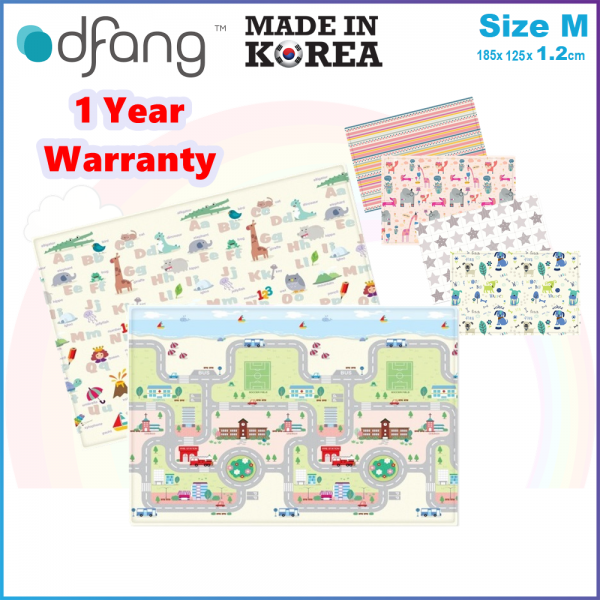 Dfang Double Film Premium PVC Mat (180x140cmx1.2cm) Size M - Made in Korea -1 Year Warranty