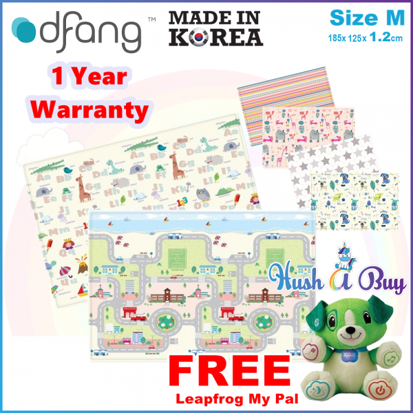 Dfang Double Film Premium PVC Mat (180x140cmx1.2cm) Size M - Made in Korea (1 Year Warranty)