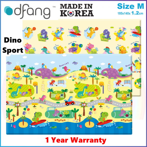 Comflor Prime BabyCare Premium PVC Mat (185cmx125cmx1.2cm ) Size M - Made in Korea - 1 Year Warranty