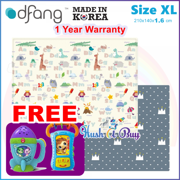 Dfang Double Film Premium PVC Mat (240x140x1.6cm) Size XL  - Made in Korea (1 Year Warranty)