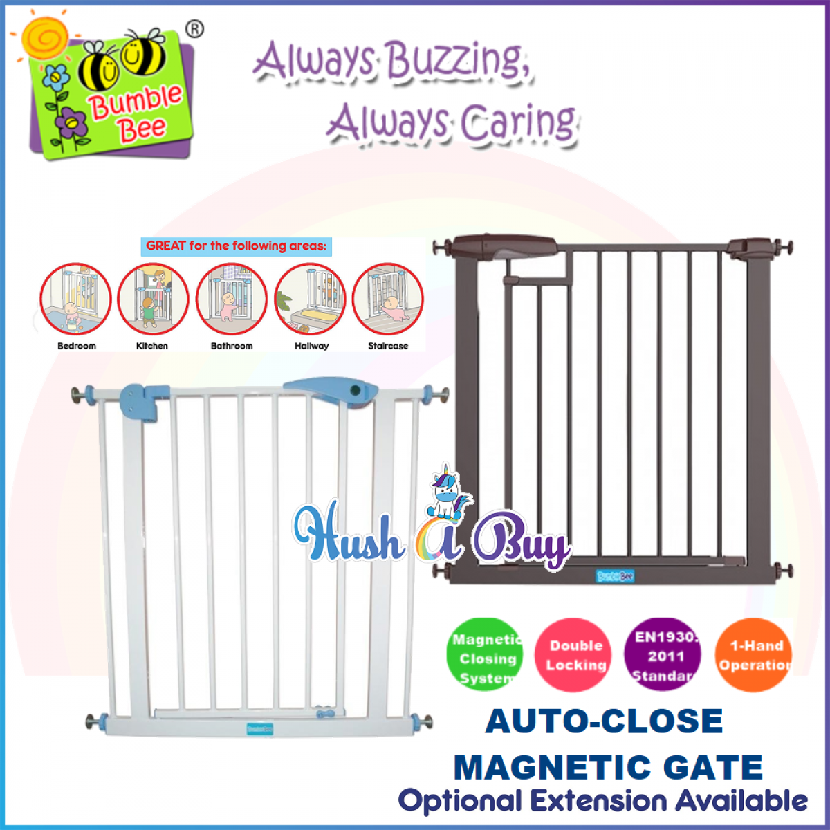 Hush A Buy Safety Gate Auto Close Bumble Bee