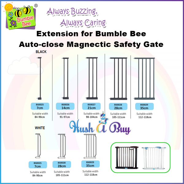 Bumble Bee Auto Close Magnetic Safety Gate EXTENSION