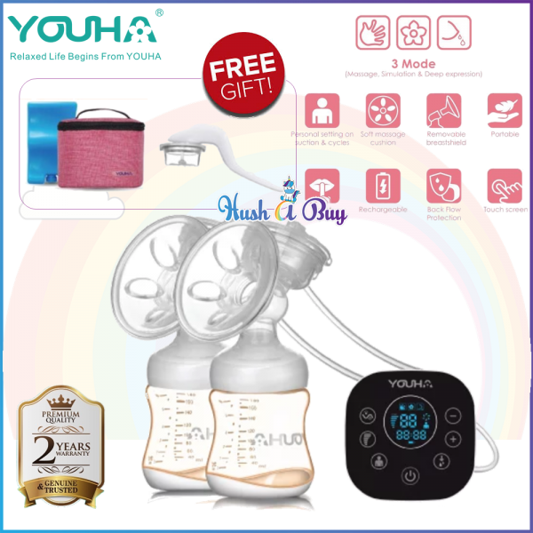 Youha Onyx Duo Black Series Double Breast Pump with FREE GIFT