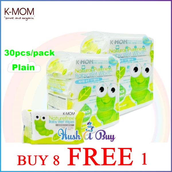 K-MOM Naturefree Basic Wet Tissues 30's - BUY 8 FREE 1