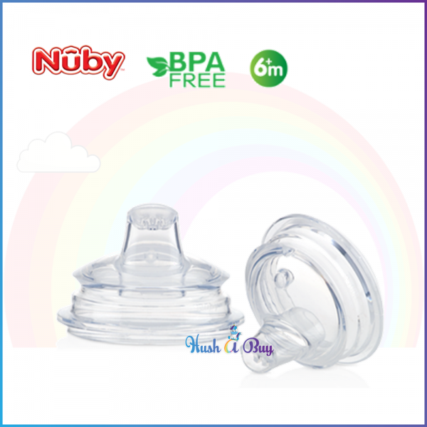Nuby Comfort Series No Spill Silicone Replacement Spout - 2 pcs
