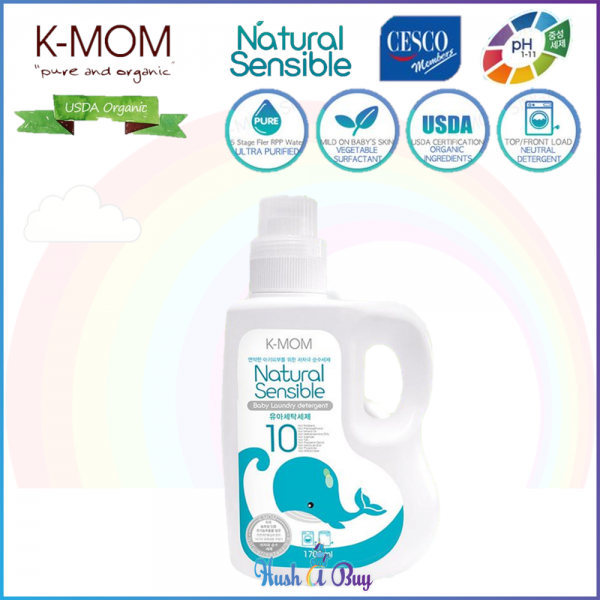 K-MOM USDA Organic Laundry & Floor Detergent Bottle 1700ml
