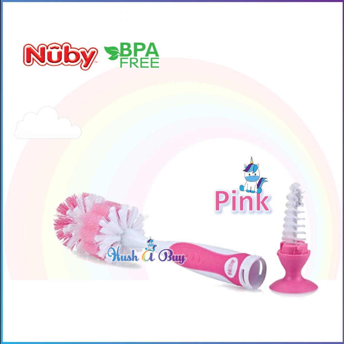 Nuby Bottle Brush With Interlocking Suction Bottom With Nipple Brush