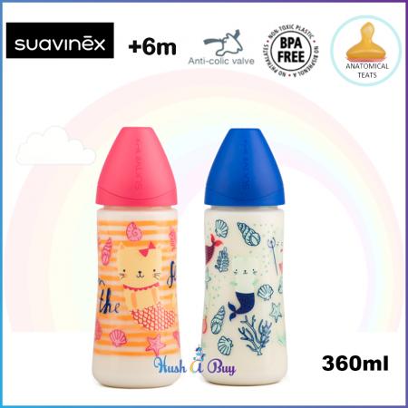 Suavinex Feeding Bottle +6M Medium Flow with Anatomical Teat 360ml