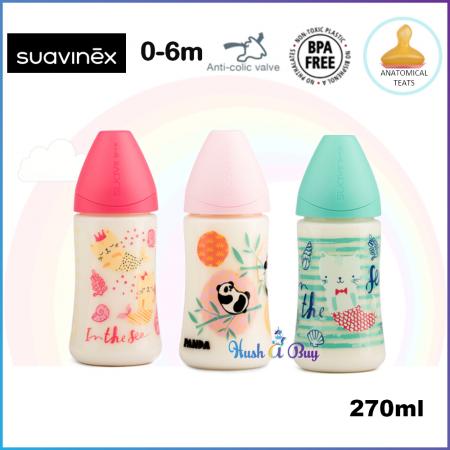 Suavinex Feeding Bottle +6M Medium Flow with Anatomical Teat - 270ml