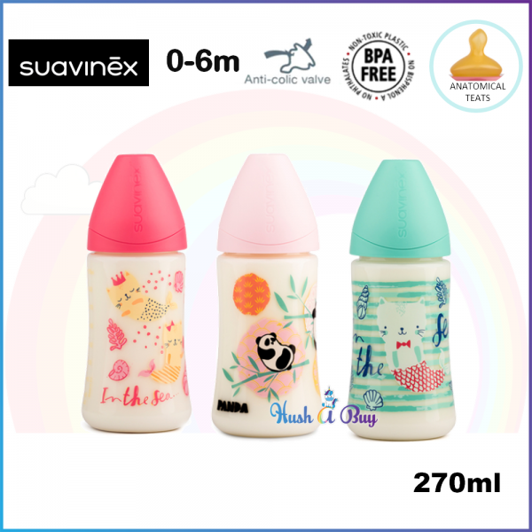 Suavinex Feeding Bottle +6M Medium Flow with Anatomical Teat - 270ml