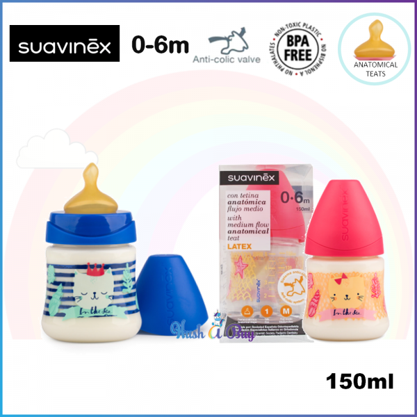 Suavinex Feeding Bottle 0.6M Slow Flow with Anatomical Teat -150ml