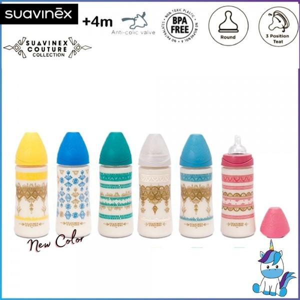 Suavinex Coutour PA Feeding Bottle with Anti-colic Round Teat +4M 360ml