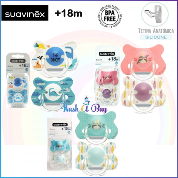 Suavinex Fusion Soother Anatomical Silicone 18 Months (2 Units)