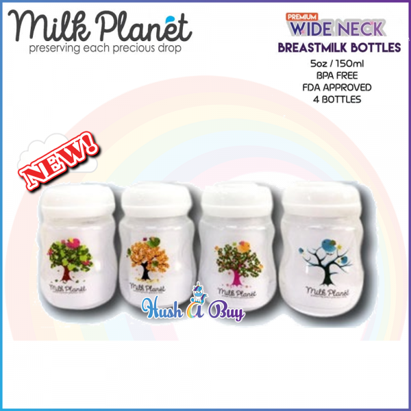 Milk Planet Premium Wide Neck Breastmilk Bottles / Botol Susu -150ml / 5oz