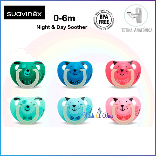 Suavinex Night & Day Soother / Pacifier / Puting / Glow in the Dark - 0-6months