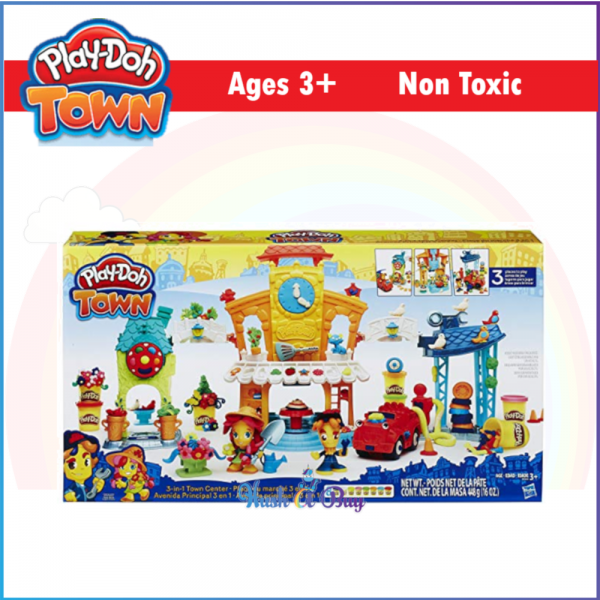 MID YEAR CLERANCE - Play-Doh Town 3-in-1 Town Center / Clay / Dough / Playdoh