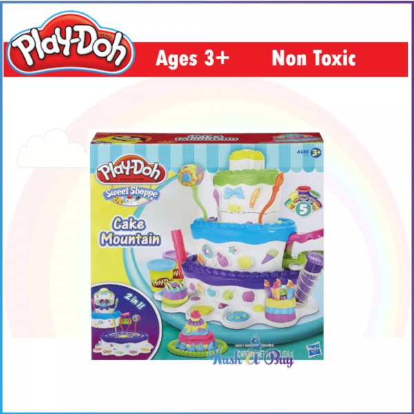 MID-YEAR CLERANCE - Play-Doh Sweet Shoppe Cake Mountain Playset / Dough / Clay / Playdoh