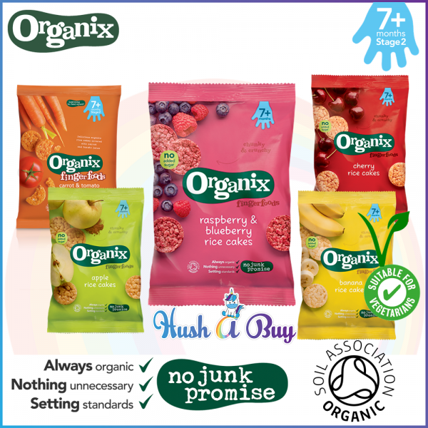 Organix Organic Finger Food - Rice Cake - Banana / Raspberry / Blueberry / Apple / Cherry