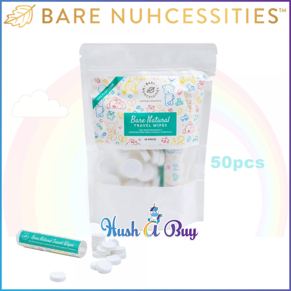 Bare Nuhcessities Bare Natural Travel Wipes / Travel Dry Wipes / Dry Tissue