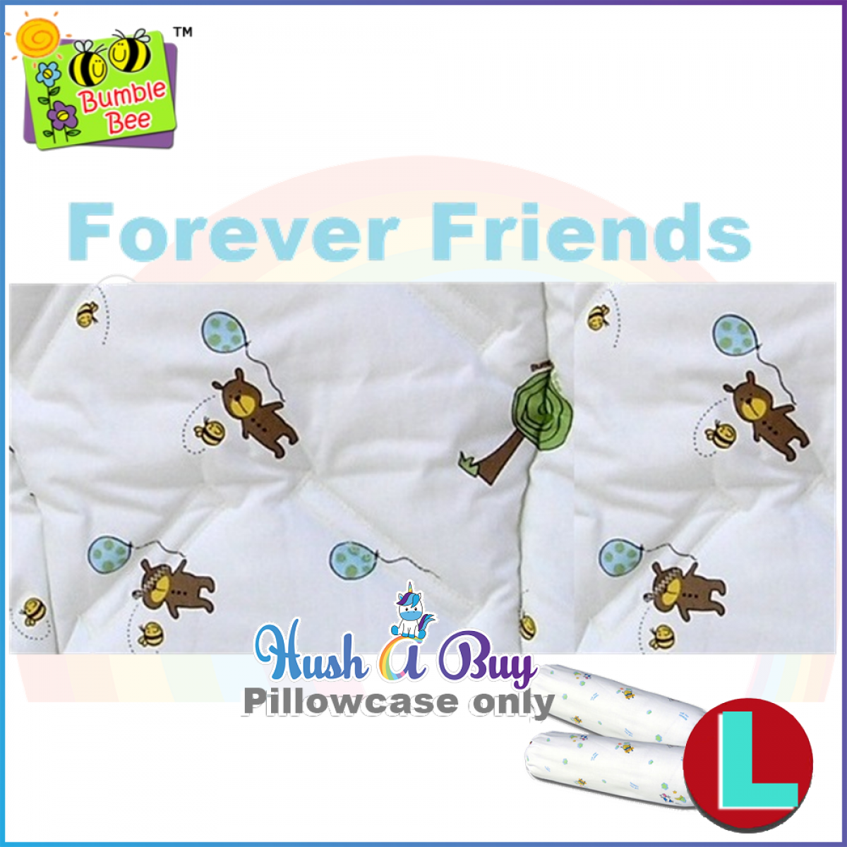 Bumble Bee Bolstercase - Size L - Spring Blossom / Fun With Pals / Forever Friends / Cookies The Horse