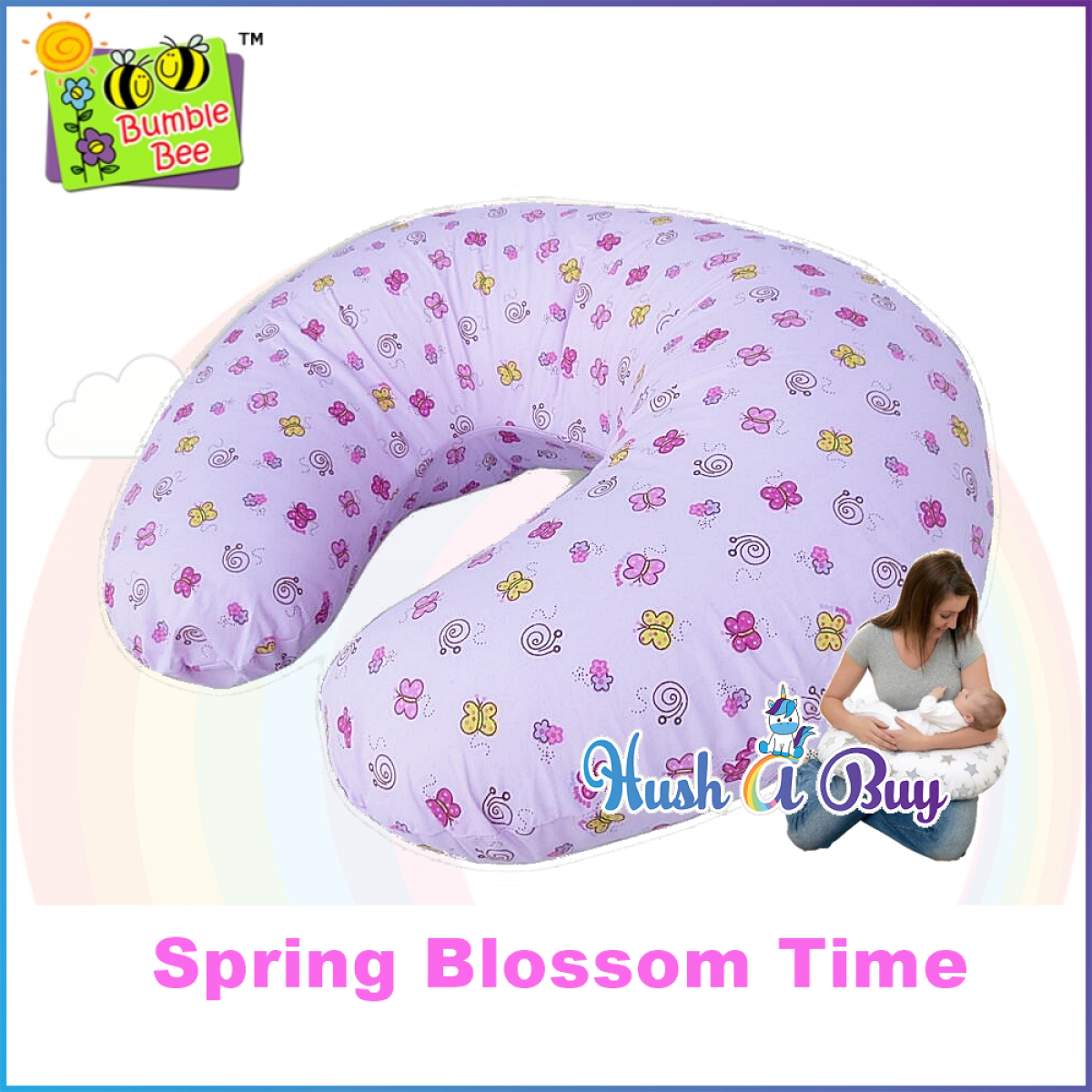 Bumble Bee Nursing Pillow for Mom & Baby