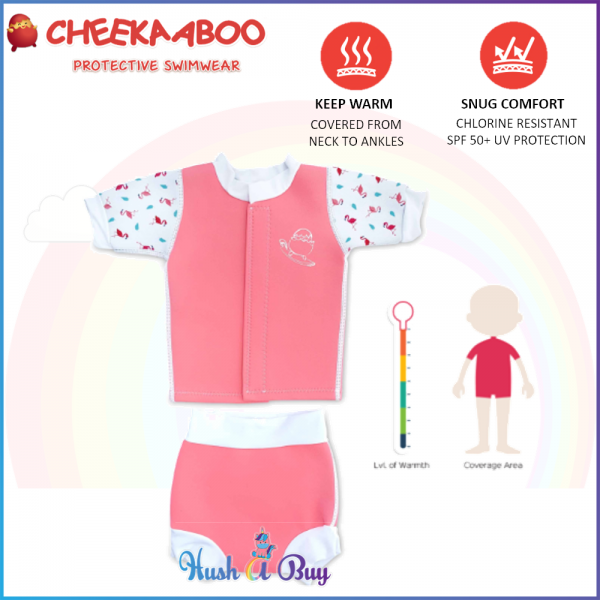 Cheekaaboo Huggiebabes Suit / Warmer / Swimming Suit -Salmon Pink