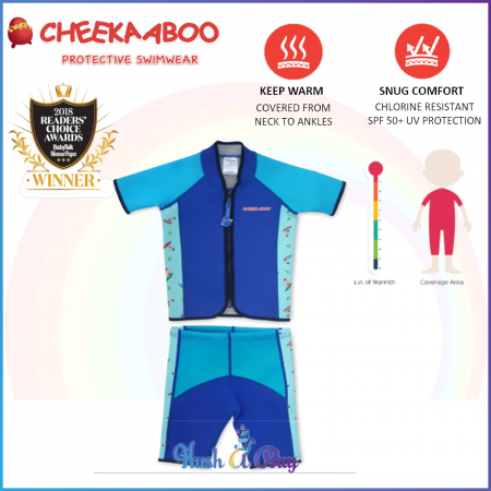 Cheekaaboo Twinwets Suit / Warmer / Swimming Suit -NavyBlue(Surfer)