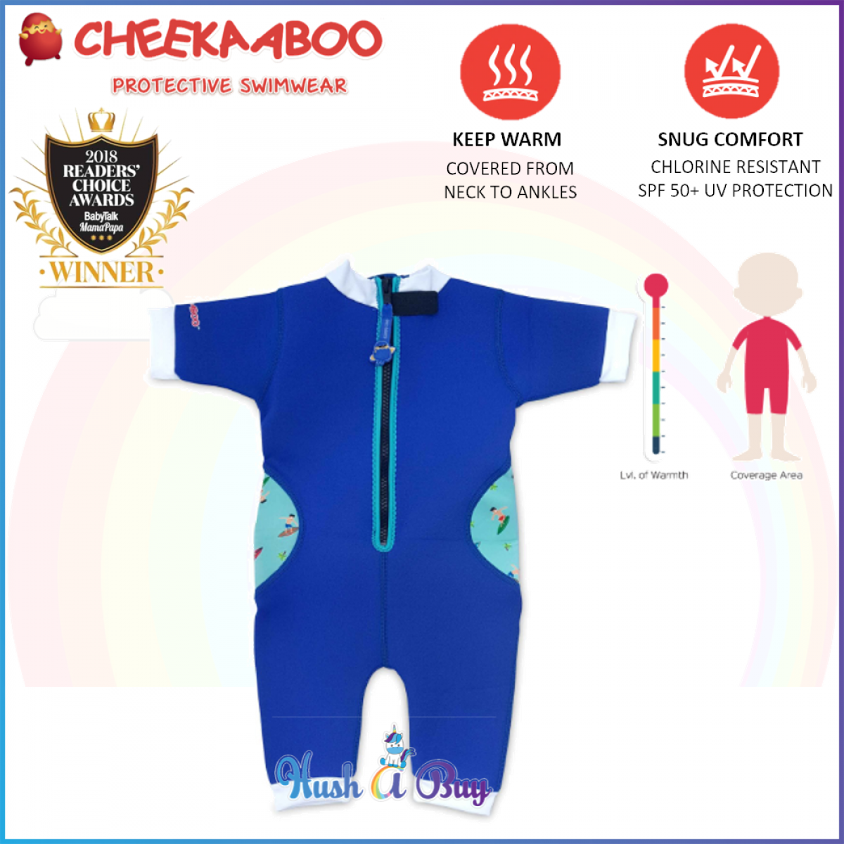 Cheekaaboo Warmiebabes Suit / Swimming Suit / Warmer / One Piece - NavyBlue(Surfer)