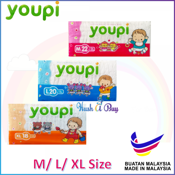 Youpi Disposable Tape Diaper (M/ L/ XL)