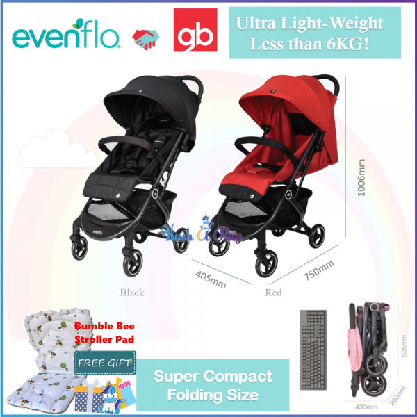 Evenflo x GB Pilot Ultra Light Compact Travel Stroller