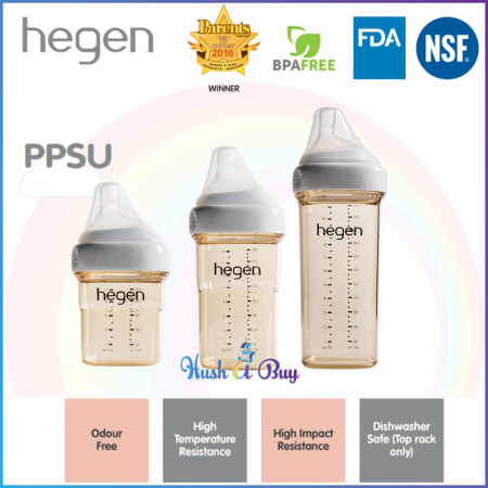 Hegen PCTO Feeding Bottle PPSU Single - 150ml/ 240ml/ 330ml