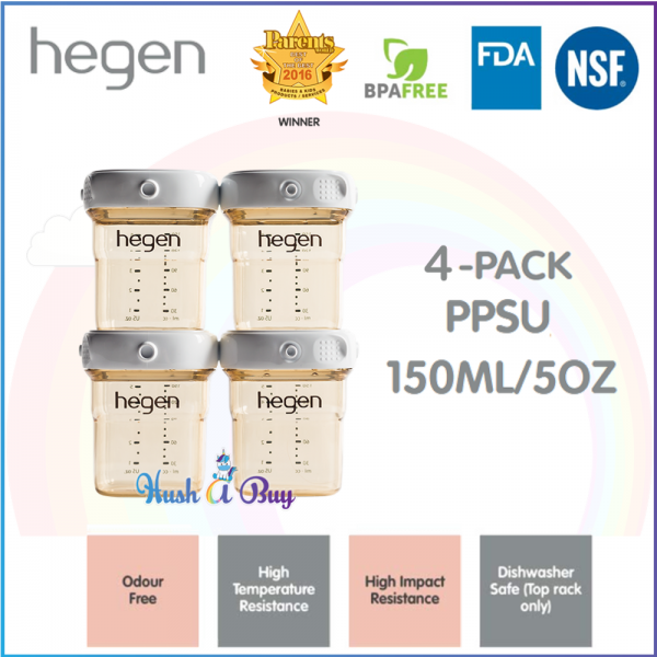 Hegen PCTO Breast Milk Storage PPSU 150ml/5oz - 1pack/4pack