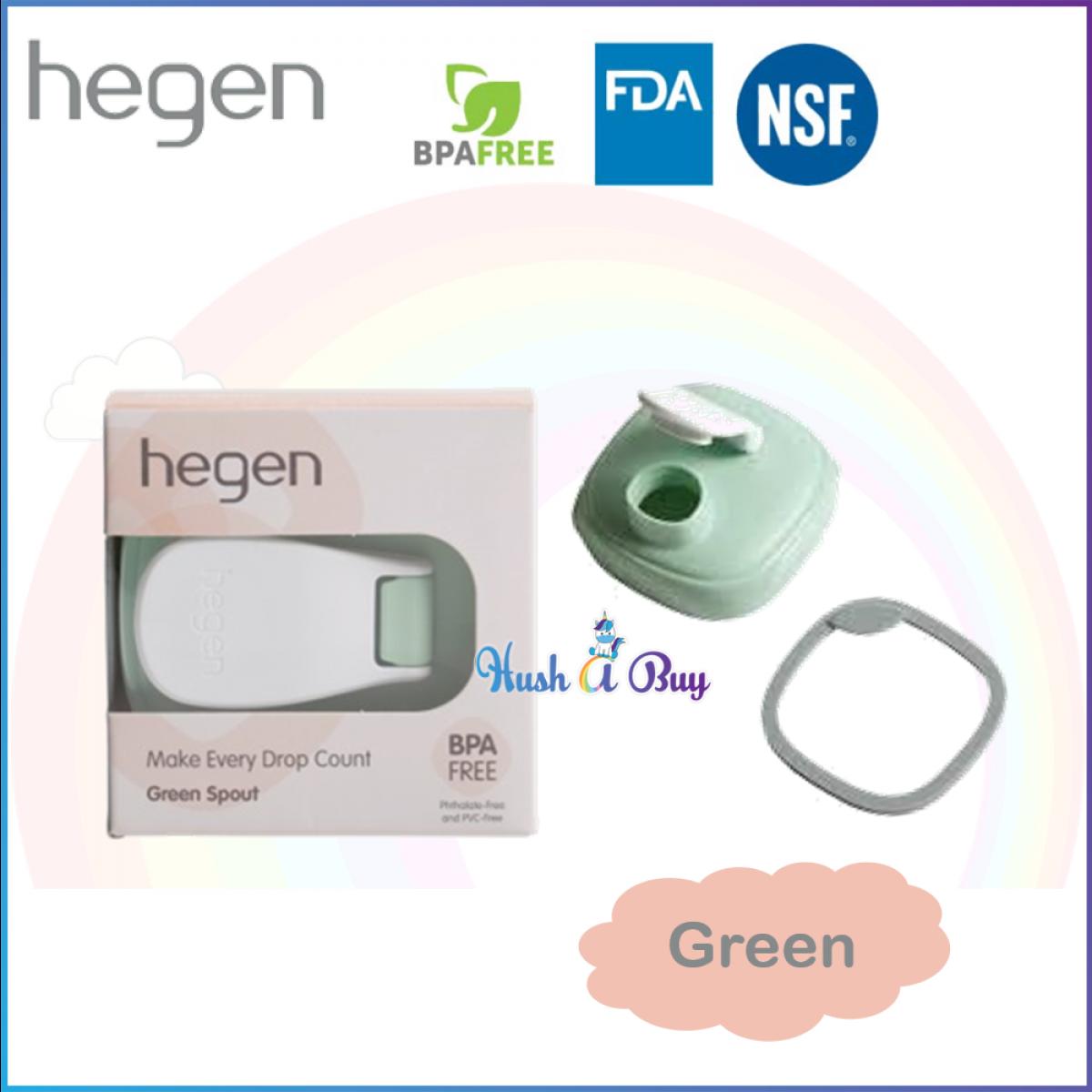 Hegen PCTO Spout- Grey/ Green/ Pink