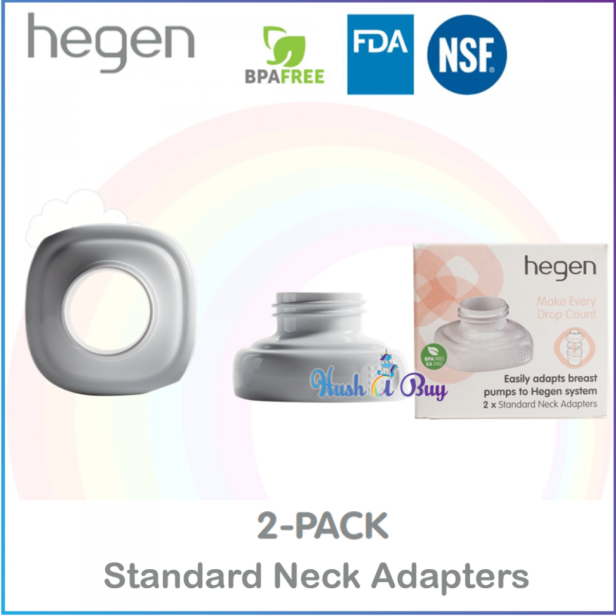 Hegen PCTO Breast Pump Adapters (2-pack) Standard Neck / Wide Neck
