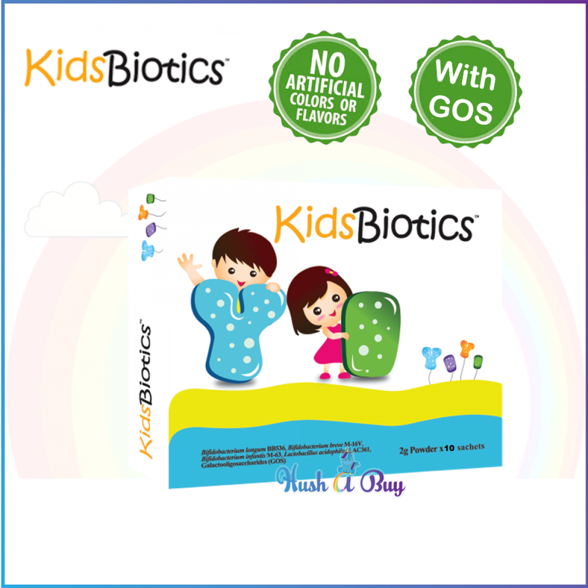 KidsBiotic (2g powder x 10 sachets) Probiotics and Prebiotics  (Expiry Date: 29/8/2020)
