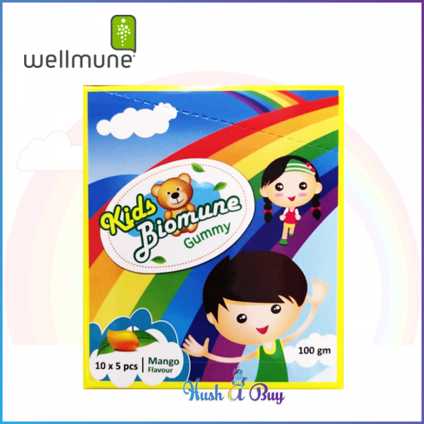 Kids Biomune Gummy Mango Flavor- 10 x 5 pcs - Enhance Immune System - Reduce Cold and Flu (Exp: 26/06/2020)