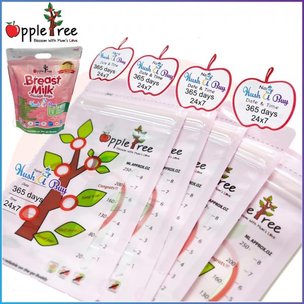 Appletree Milk Storage Bag / Breastmilk Bag / Beg Susu / Breast Milk Bag 10PCS (8oz)