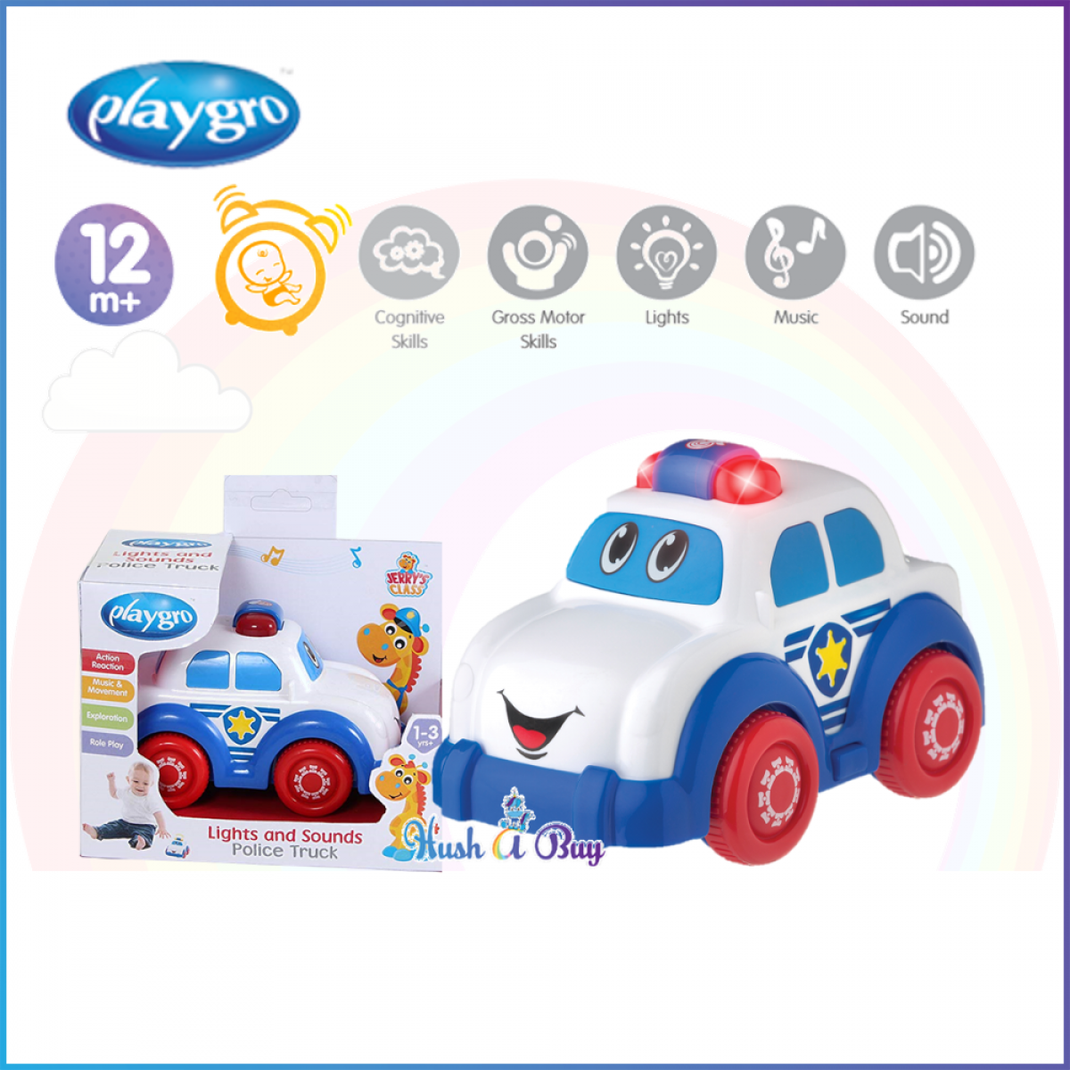 Playgro Jerry Class Light and Sounds Police Car
