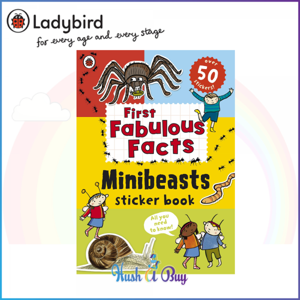 Ladybird First Fabulous Facts Minibeasts Sticker Book  - Paperback