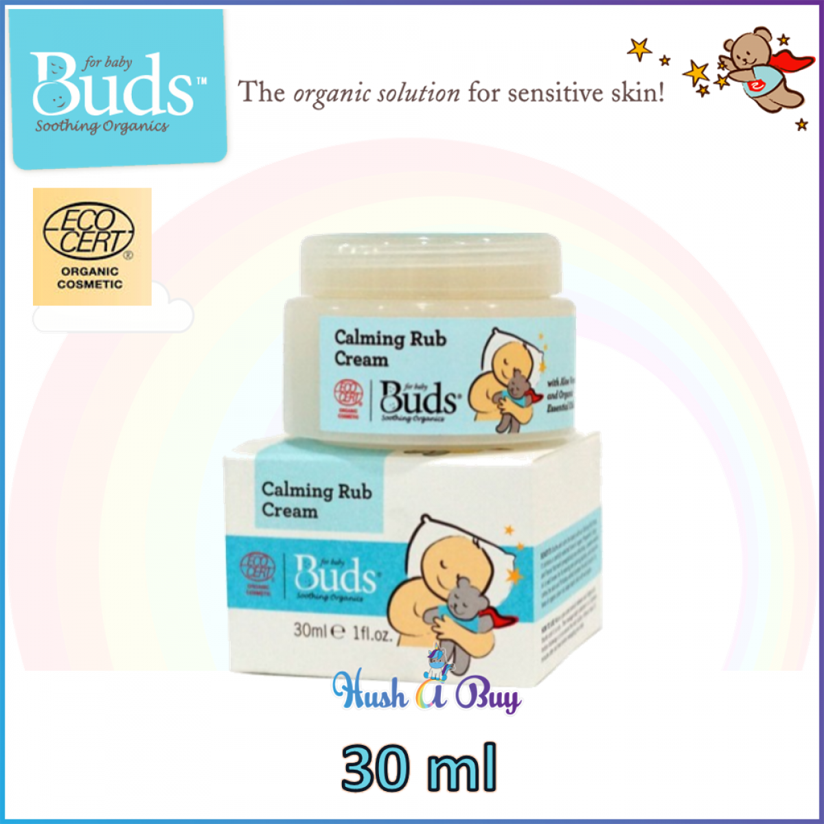 Buds Calming Rub Cream 30ml