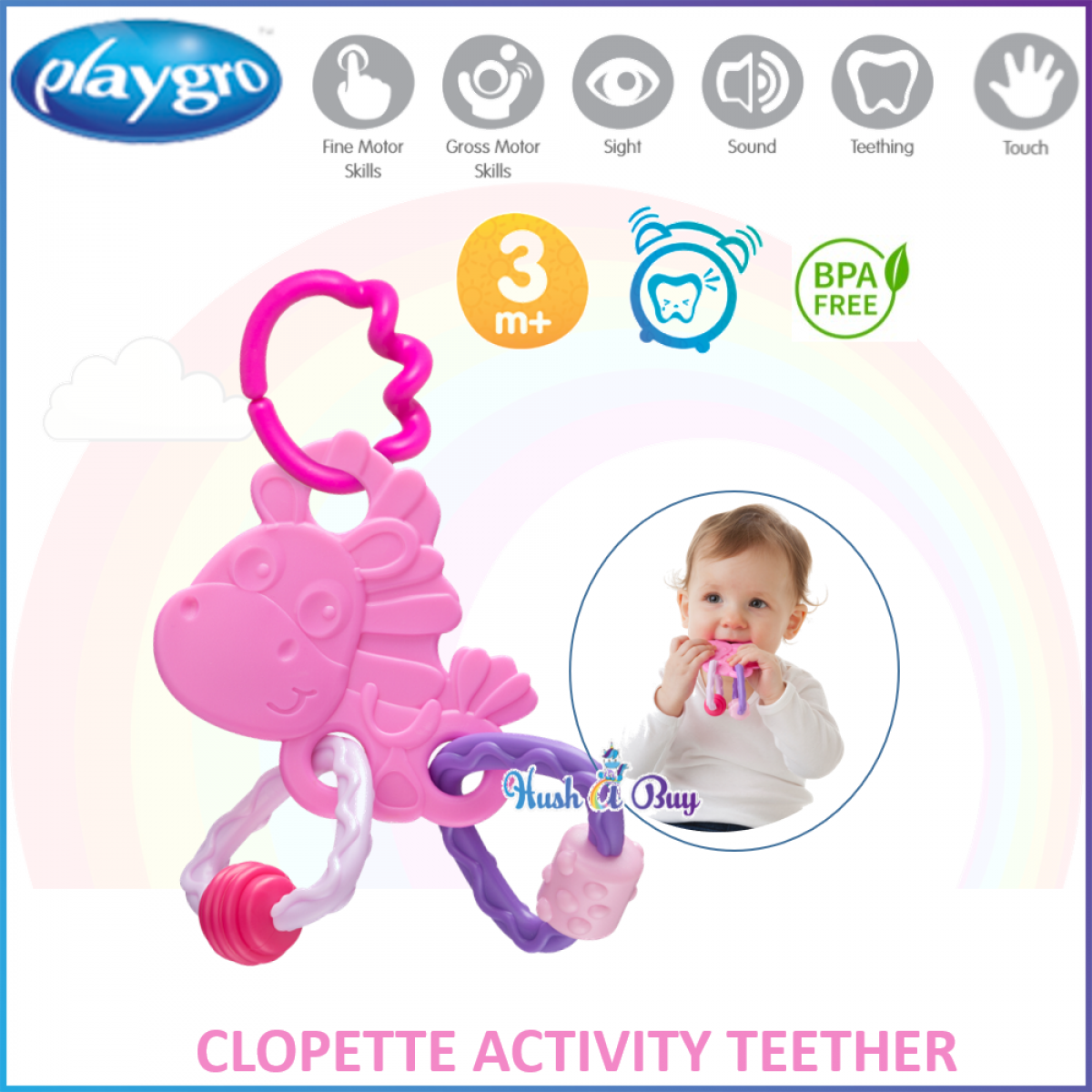 Playgro Activity Teether- Clip Clop / Clopette