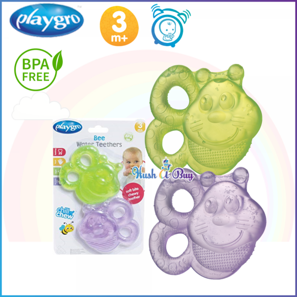 Playgro Bee Water Teether (2 Pack)