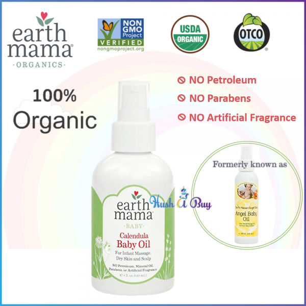 Earth Mama Calendula Baby Oil 120ml