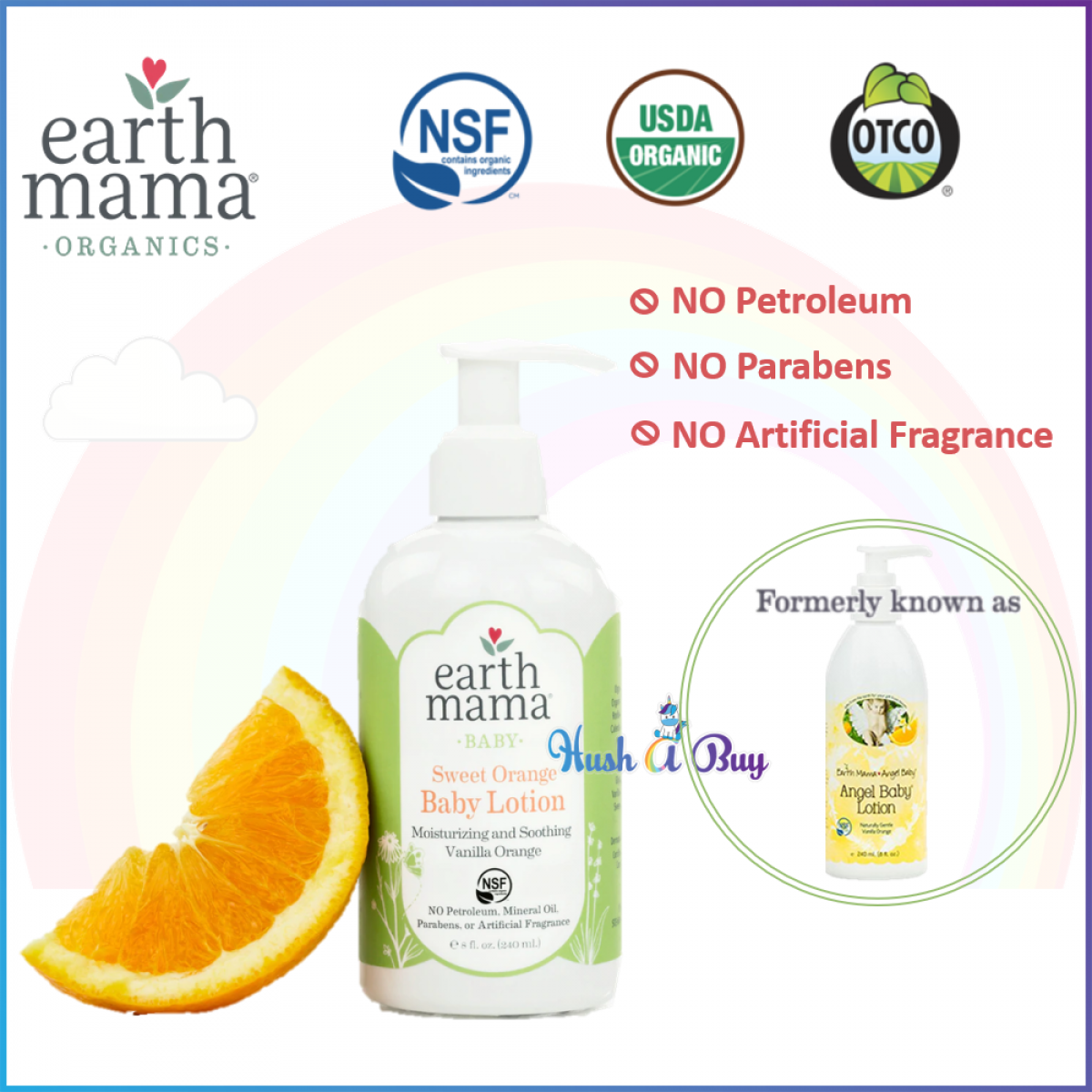 Earth Mama Sweet Orange Baby Lotion 240ml