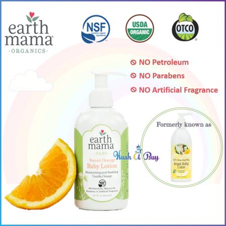 Earth Mama Sweet Orange Baby Lotion 240ml