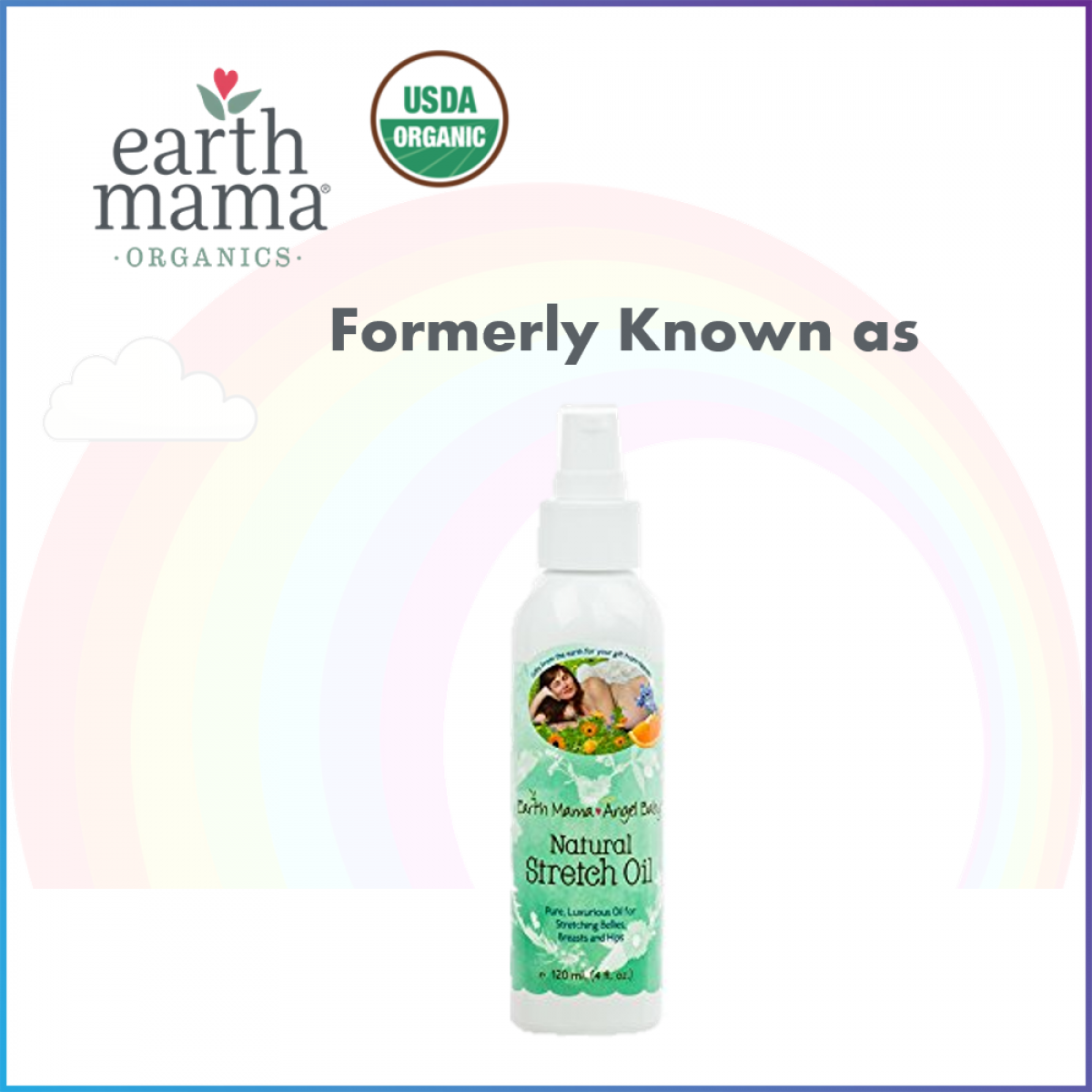 Earth Mama Organic Belly Oil 120ml for Stretch Mark and Itchy Skin (Expiry: 11/2020)