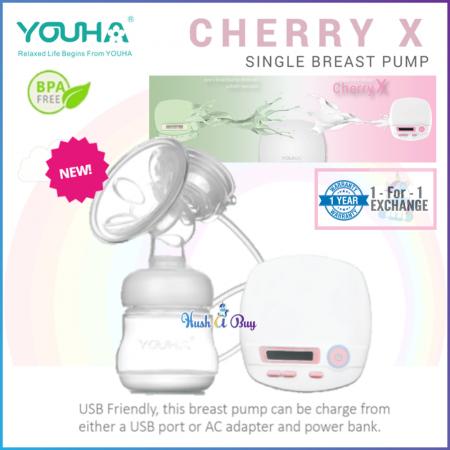 Youha Cherry X Single Breast Pump with 1 Year Warranty