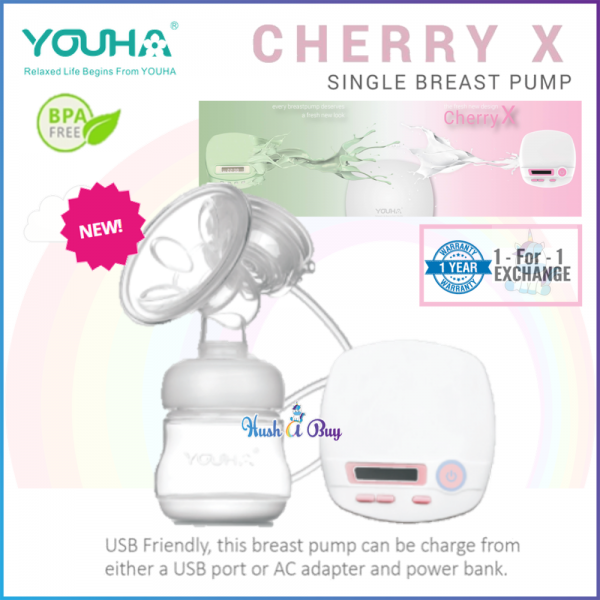 Youha Cherry X Single Breast Pump with 1 Year Warranty