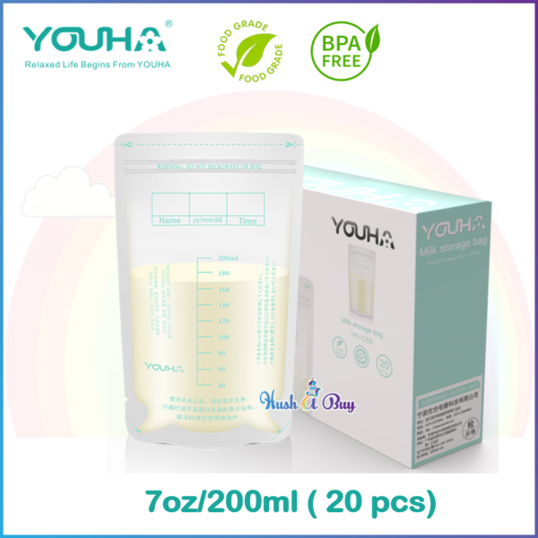 Youha Breast Milk Storage Bags 200ml (20 Pcs)