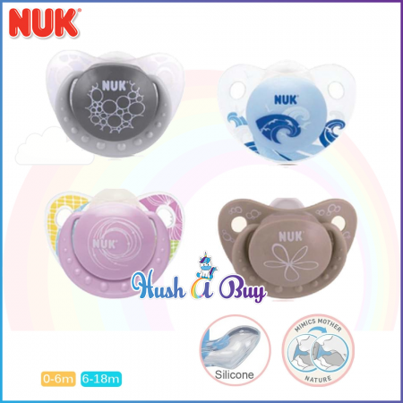 NUK Orthodontic Silicone Soother 0-6 Months, 6-18 Months